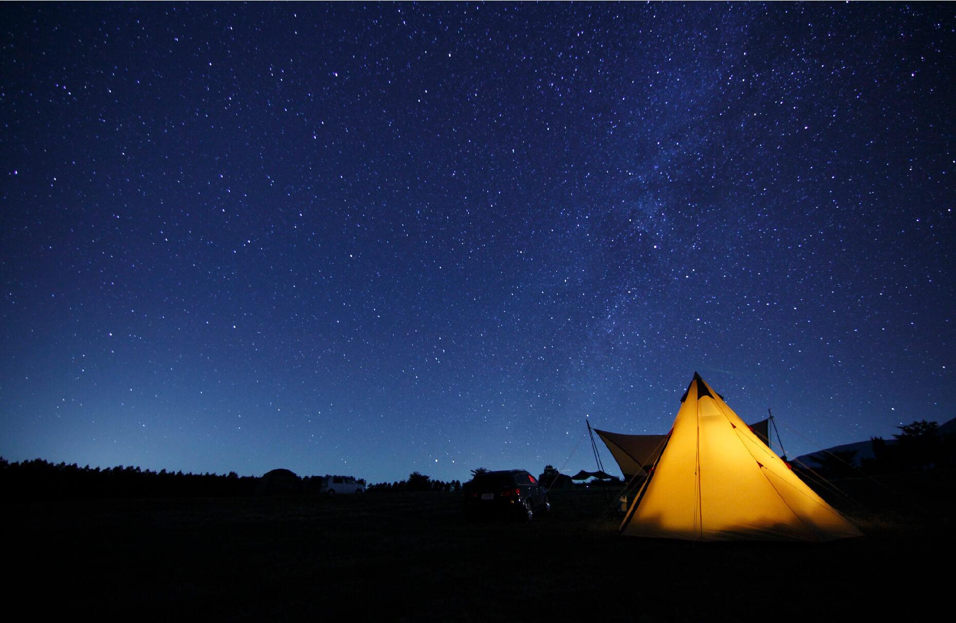 星降るキャンプ場